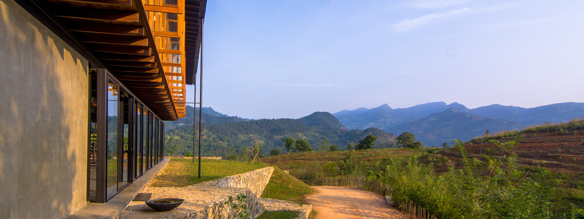 Breathtaking View of the Mountains from Santani Wellness Resort